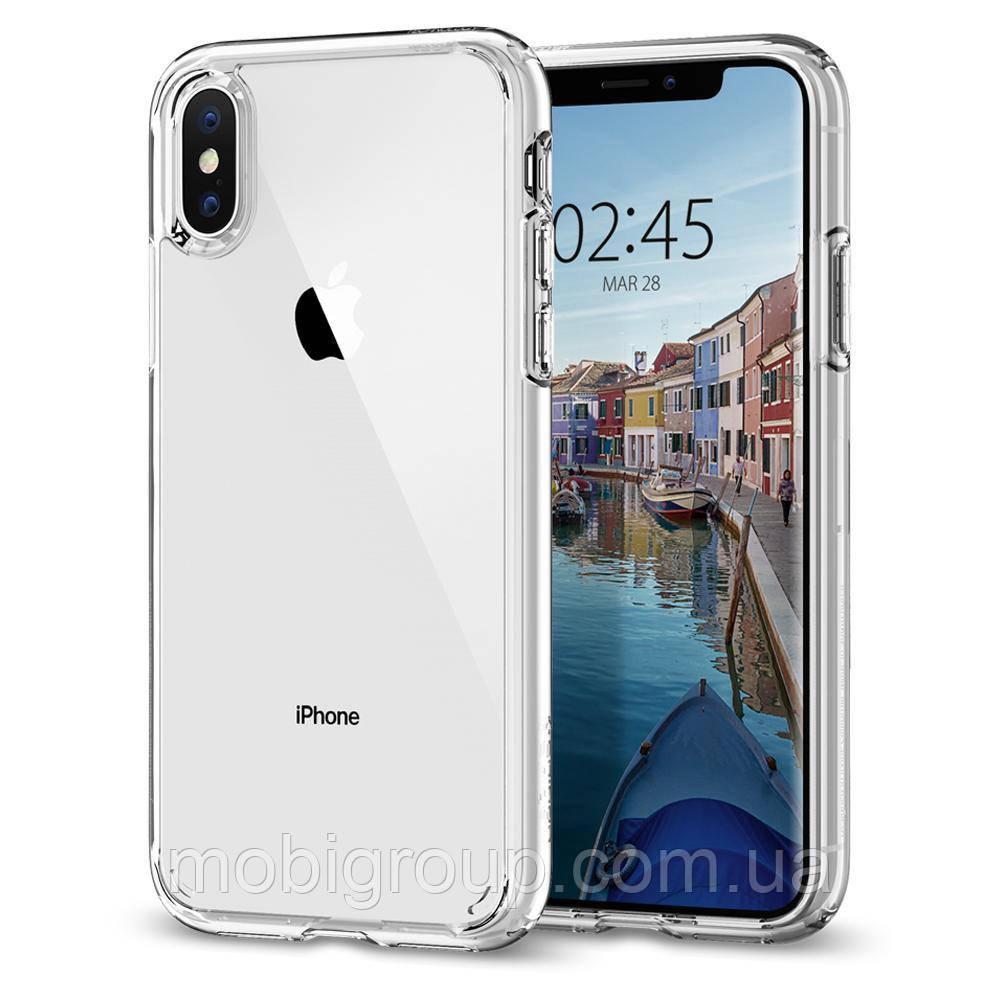 Чехол Spigen для iPhone XS Ultra Hybrid, Crystal Clear (057CS22127)