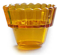 Лампадка стеклянная желтая