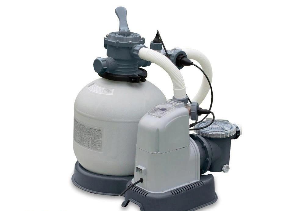 Пісочний насос з хлоргенератором для басейну Intex 10 000 л/год хлор 11 м/год