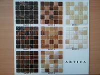 Стеклянная мозаика в золотисто-бежевой гамме