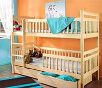 Двухъярусная кровать из дерева Славко -Люкс 1 Сорт
