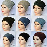 Демисезонная женская шапка из ангоры софт