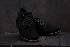 Мужские зимние кроссовки VanKristi черные топ реплика
