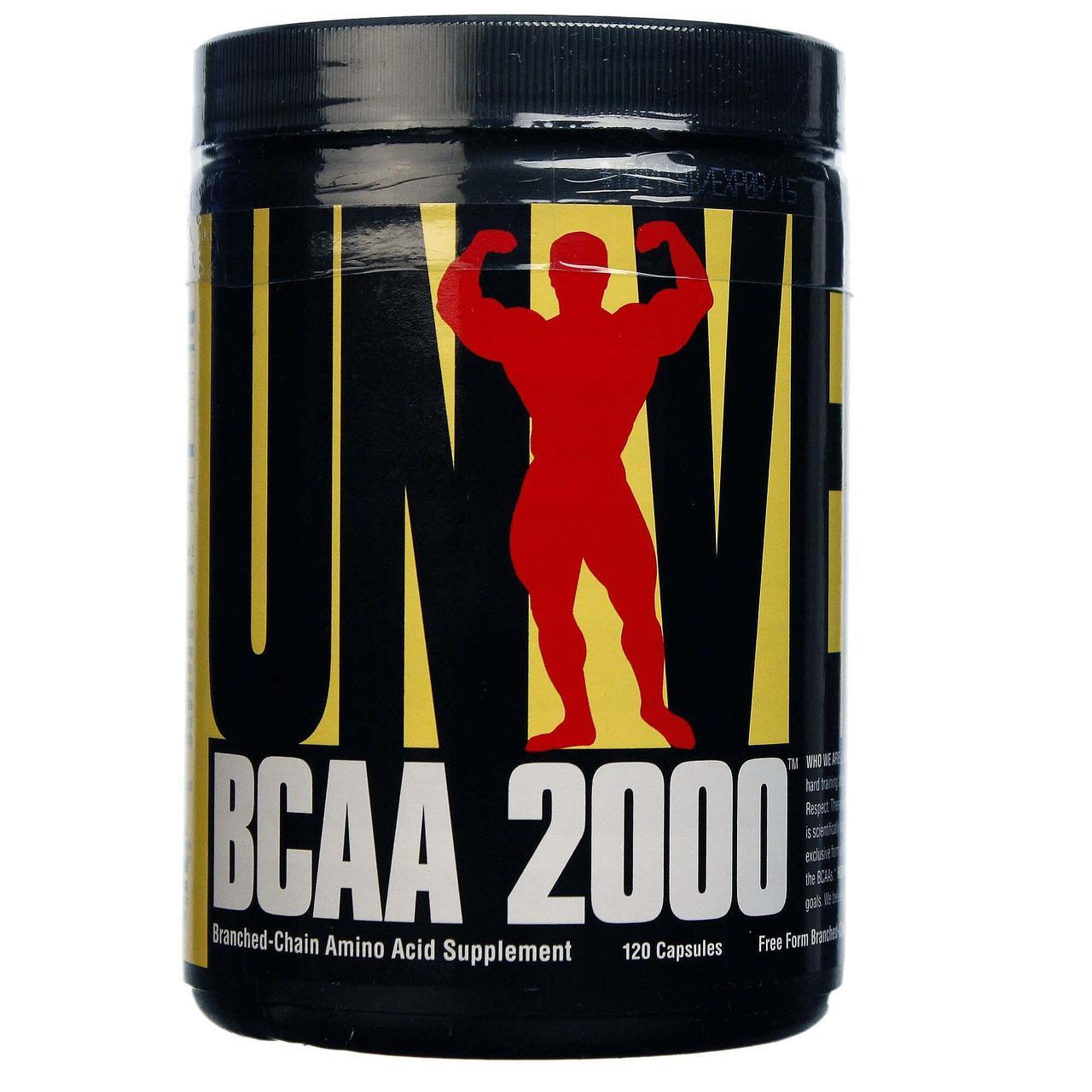 Аминокислоты BCAA 2000 (120 капс.) Universal Nutrition