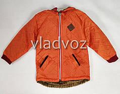 Детская демисезонная куртка для девочек оранжевый 3-4 года