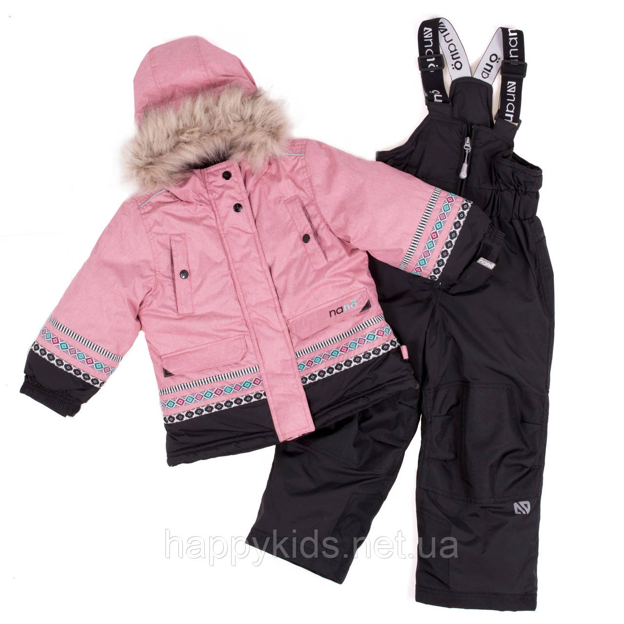 Зимний комплект для девочки NANO F18 M 252 Vintage Pink. Размеры 2-12.