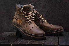Зимние мужские ботинки Riccone коричневые топ реплика