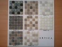 Стеклянная мозаика в бежево-графитовой гамме, фото 1