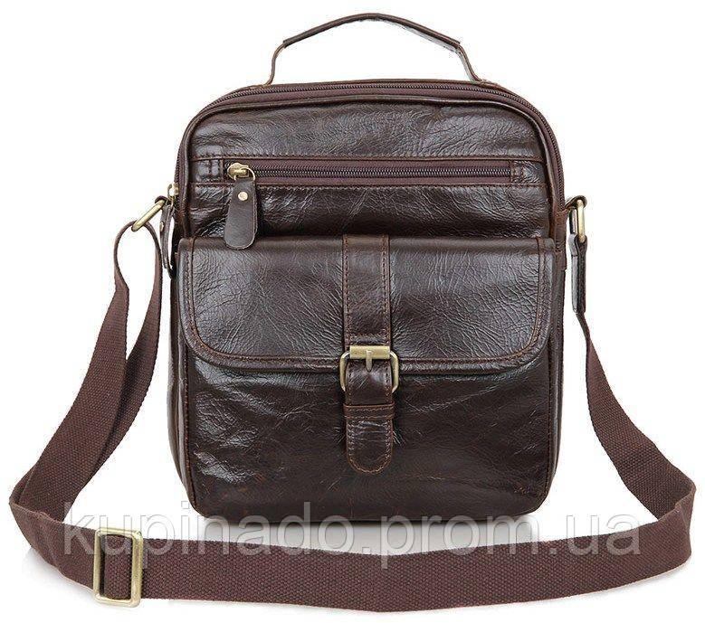Сумка мужская Vintage 14104 Коричневая, Коричневый