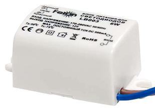 Блок питания для светодиодов Feron LB003 12V 6W