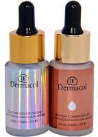 Жидкий хайлайтер Dermacol Custom Cover Drops (палитра 6шт.), фото 1