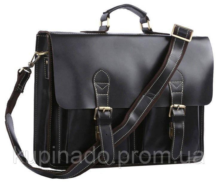 Портфель Vintage 14205 кожаный Черный, Черный