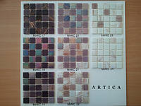 Стеклянная мозаика в сиреневой гамме