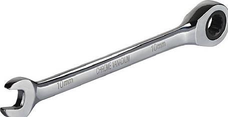 Ключ комбинированный с трещоткой, CRV 19мм Miol 51-619, фото 2