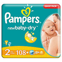 Подгузники Pampers Active Baby 2 mini (3-6кг) 108 шт.