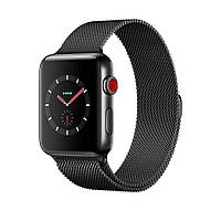 Apple Watch Series 3 GPS + Cellular 42 мм Space Black Stainless Steel Case with Space Black Milanese Loop (MR1L2), фото 1