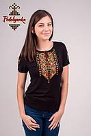 Жіноча вишита футболка Лоза золота