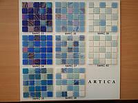 Стеклянная мозаика в фиолетово-голубой  гамме, фото 1