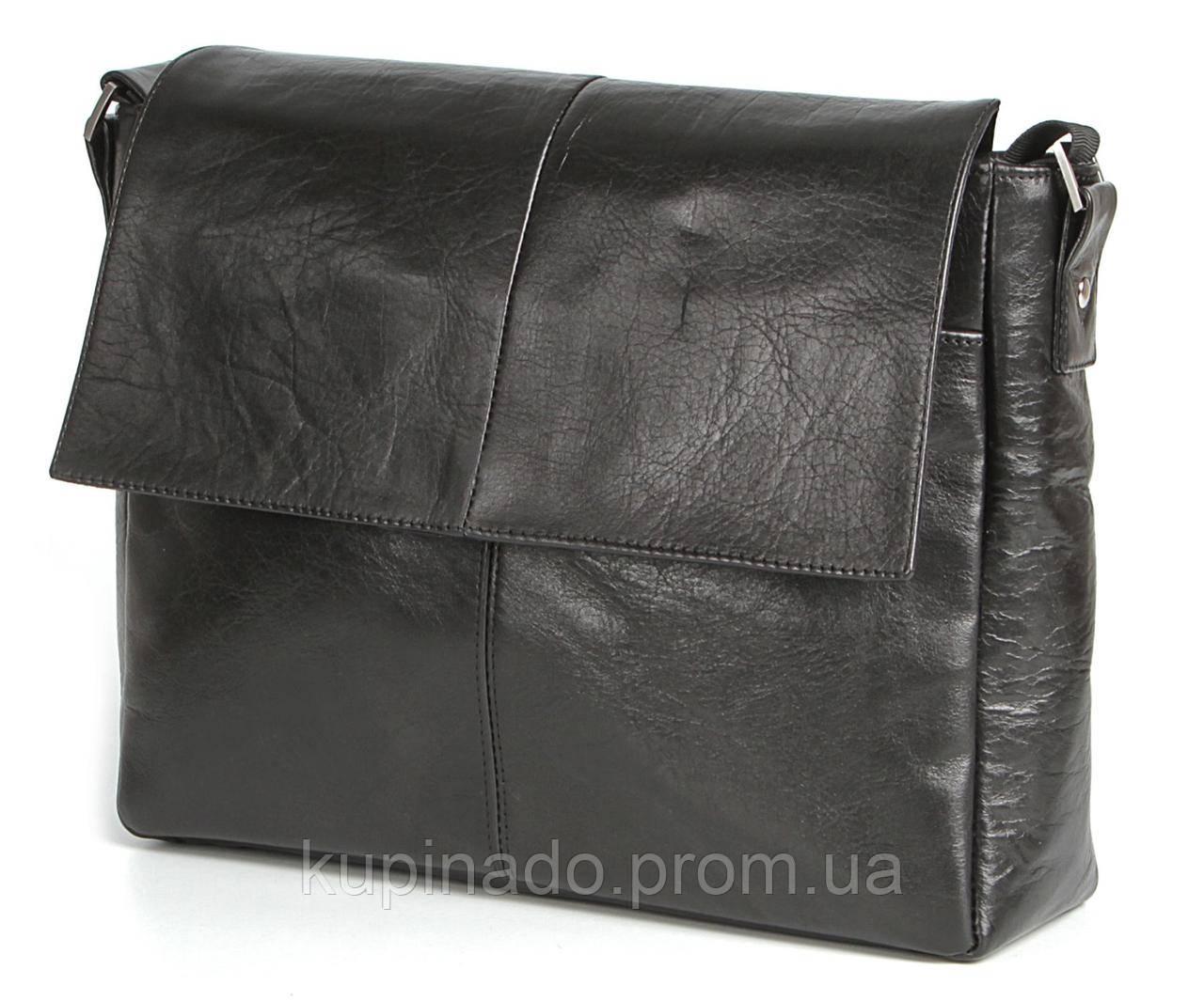 Сумка SHVIGEL 00858 кожаная Черная, Черный
