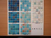 Стеклянная мозаика в сине-голубой  гамме