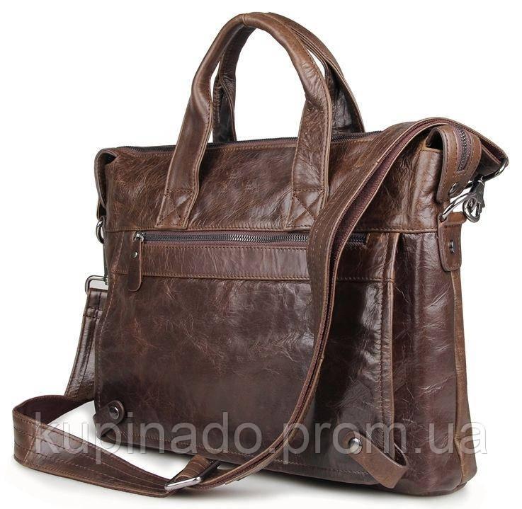 Сумка мужская Vintage 14368 Коричневая, Коричневый
