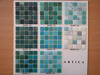 Стеклянная мозаика в изумрудной  гамме, фото 1