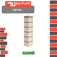 Наружный угол Альта-Профиль Кирпич 0,473х0,103 м белый