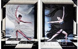 """Набор для вышивки диптиха """"Черное и белое"""""""