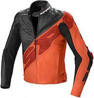 Мото куртка Spidi Super-R кожа черно оранжевая, 52