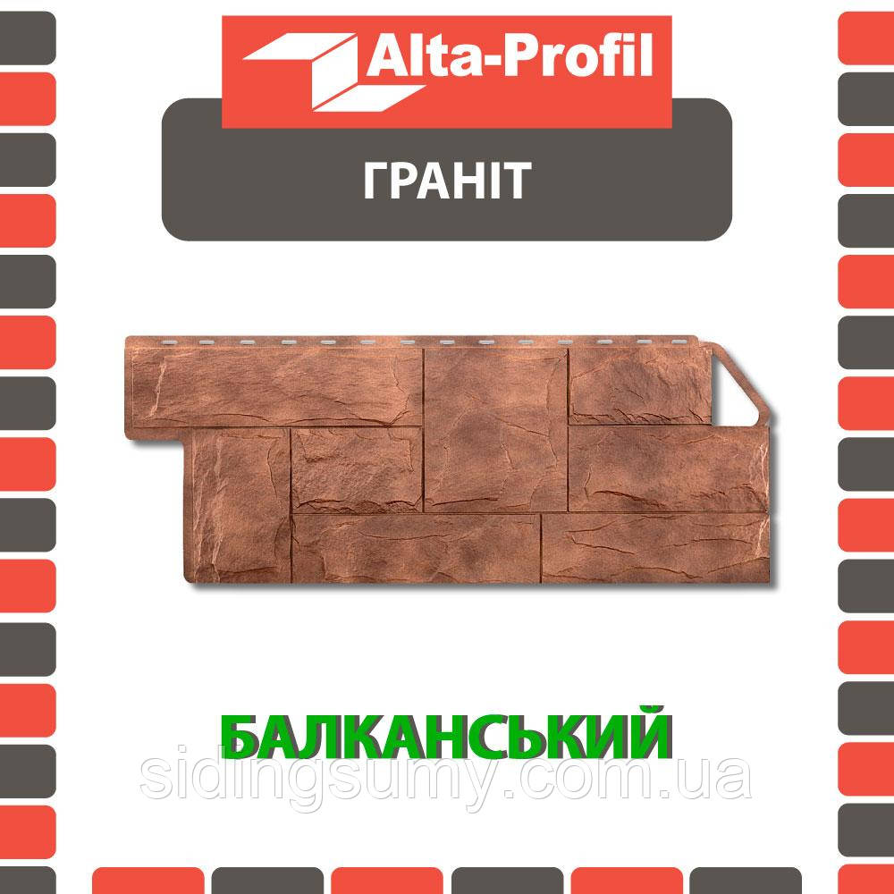 Фасадна панель Альта-Профіль Граніт 1160х450х20 мм Балканський