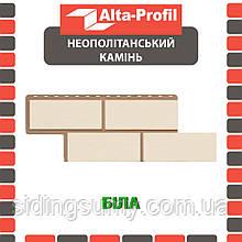Фасадна панель Альта-Профіль Камінь Неаполітанська 1250х450х26 мм білий