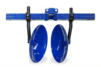 Окучник дисковый на двойной сцепке с усиленными стойками (ф дисков 410мм)