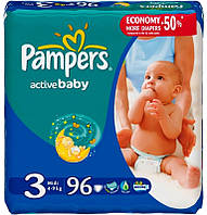 Подгузники Pampers Active Baby 3 Midi (4-9 кг) 96 шт.