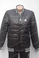 Стильная стеганная куртка бомбер в стиле ADIDAS