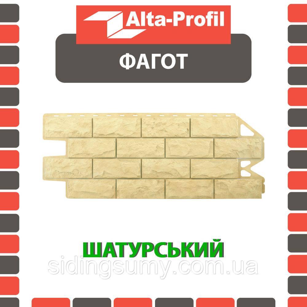 Фасадна панель Альта-Профіль Фагот 1160х450х20 мм Шатурський