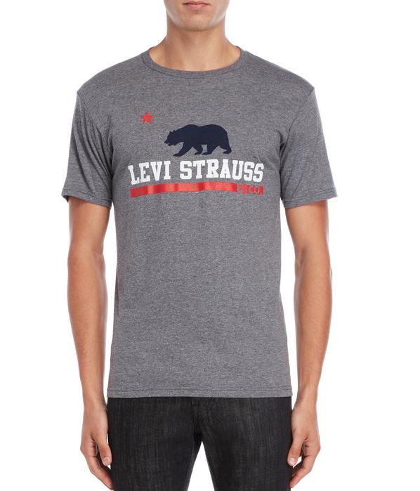 Мужская футболка  Levi's® Bohr Bear Logo Tee - Graphite Heather