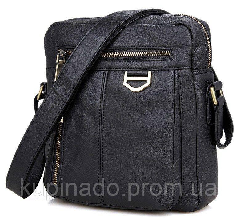 Сумка мужская Vintage 14436 через плечо Черная, Черный