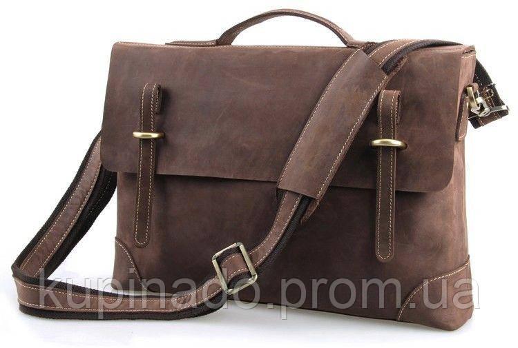 Портфель Vintage 14441 в винтажном стиле Коричневый, Коричневый