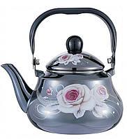 Эмалированный чайник 1.5л.