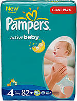 Подгузники Pampers Active Baby 4 Maxi (7-14 кг) 76 шт.