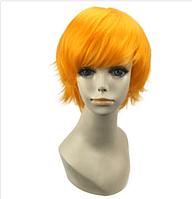 Карнавальный игровой парик аниме короткие волосы Оранжевый
