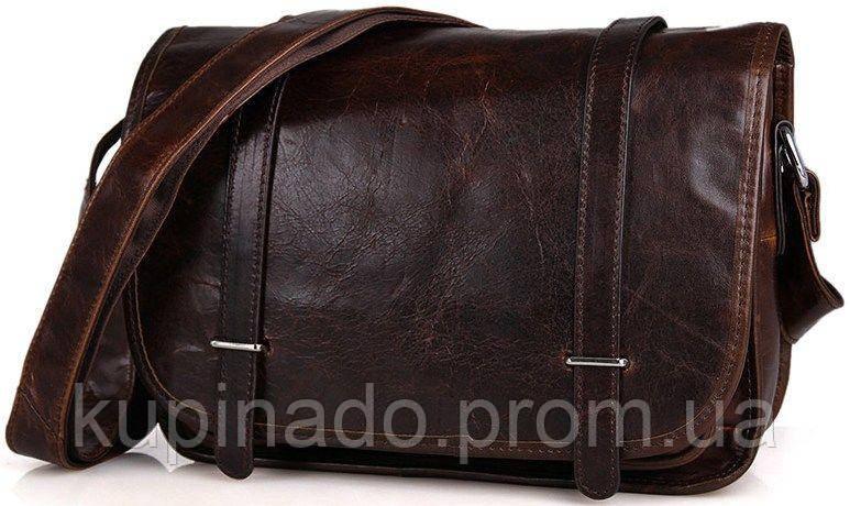 Сумка мужская Vintage 14476 для документов формата А4 Коричневая, Коричневый