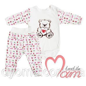 """Детский ясельный комплект """"Мишка с сердцем"""" для новорожденных, фото 2"""