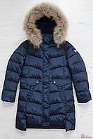 Пальто-пуховик синего цвета для девочки (158 см.)  Snowimage 6901250485712