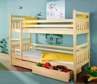 Кровать двухъярусная  из дерева «Славек —Люкс»