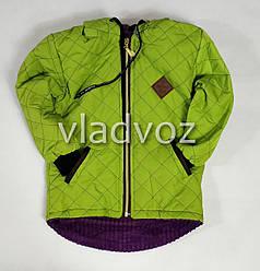 Детская демисезонная куртка для девочек салатовый 4-5 лет
