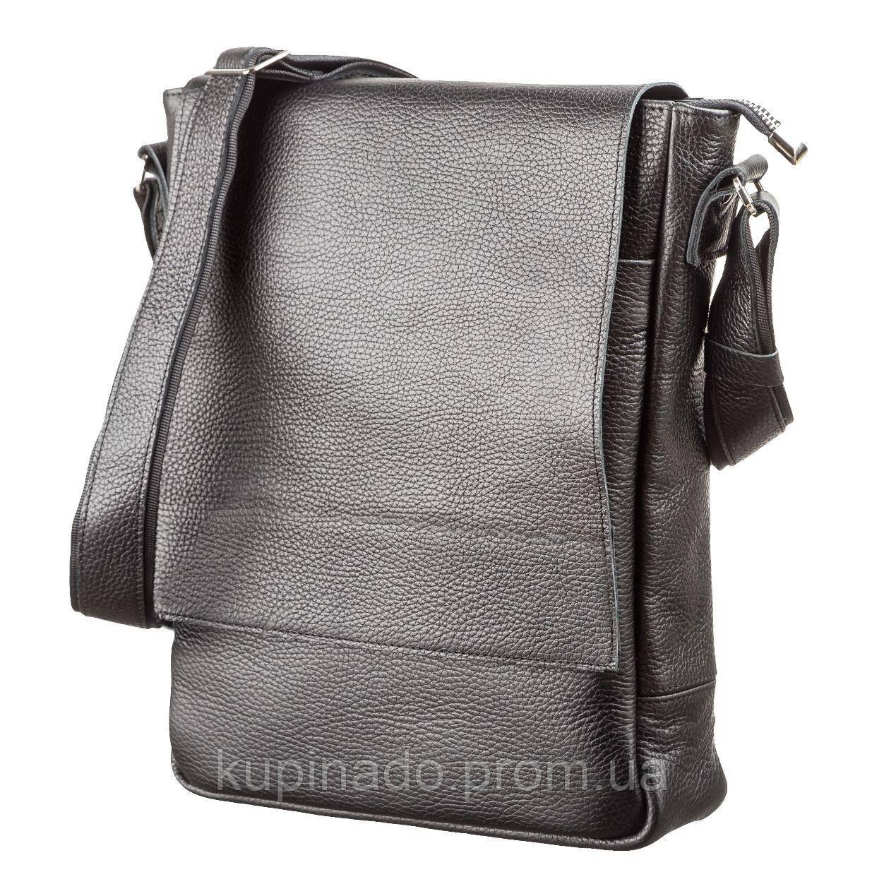 Сумка SHVIGEL 11080 из натуральной кожи Черная, Черный