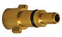Адаптор-Штыковое соединение из латуни с кольцом, вход 1/4М. Подходит для Kew, Lavor, Annovi Reverberi.