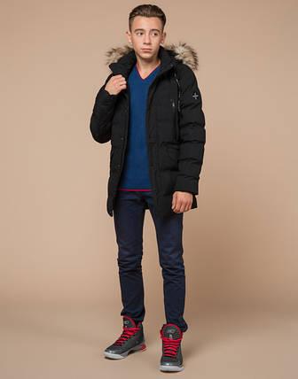 Подросток 13-17 лет    Куртка зимняя Braggart Teenager 25230 черная, фото 2