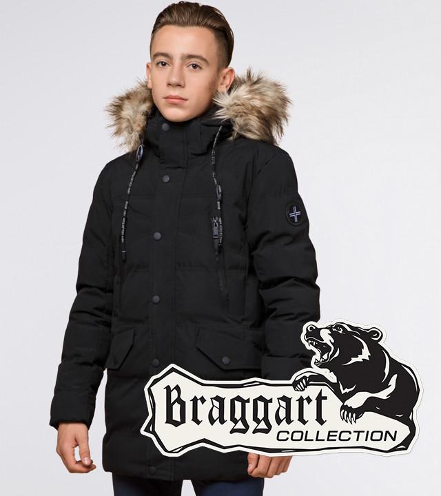 Подросток 13-17 лет    Куртка зимняя Braggart Teenager 25230 черная